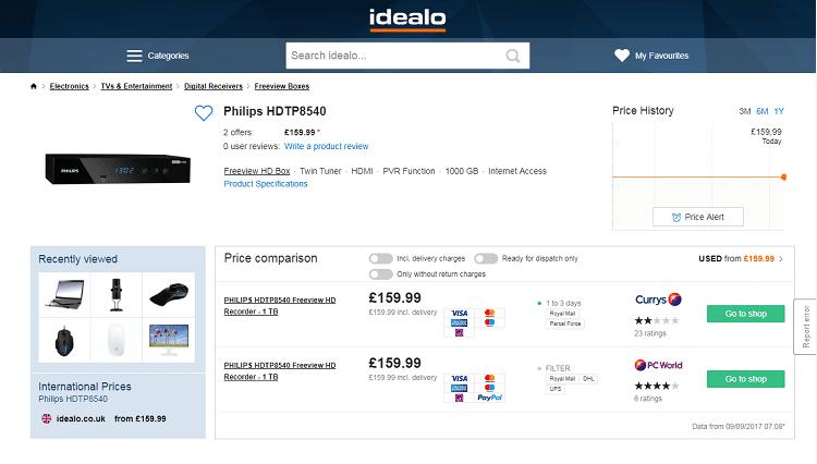 Philips HDTP8540