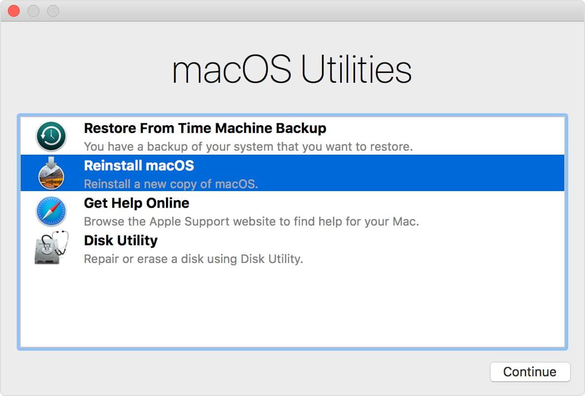 Restore a Mac